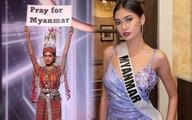Đại diện Myanmar có hành động bất ngờ tại Miss Universe, fan lo ngại khó có cửa về nước