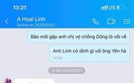 """Xuất hiện tin nhắn Hoài Linh nói về quan hệ với ông Võ Hoàng Yên và nhắc đến vợ chồng ông Dũng """"lò vôi"""""""