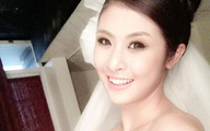 HH Ngọc Hân tung ảnh cô dâu khiến dân mạng xôn xao