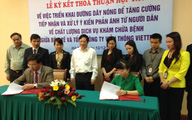 Lễ kí kết thỏa thuận hợp tác giữa Bộ Y tế và Viettel về việc triển khai đường dây nóng