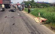 Đau đớn cảnh bé gái nhìn mẹ chết thảm dưới bánh xe tải