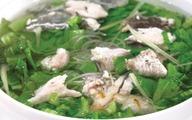 Canh cá rô nấu cải bẹ xanh