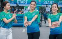 Dàn Hoa hậu Việt Nam, diễn viên Thanh Sơn, BTV Mai Ngọc tham gia chạy ủng hộ người dân miền Trung