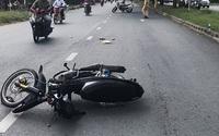 Phóng xe tông gãy chân CSGT, thanh niên 17 tuổi khai gì?