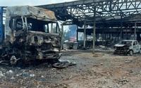 Kho vật tư Hải quan Lào bốc cháy, 6 người bị thương