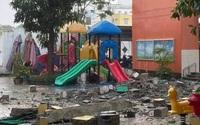 TP.HCM: Khối bêtông 'khủng' đổ sụp xuống trường mầm non