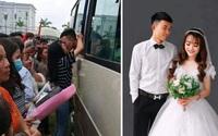 Đôi trẻ nổi tiếng với bức ảnh 'khóa môi ngày nhập ngũ' kết hôn