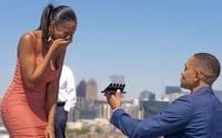 Chàng trai Mỹ cầu hôn bạn gái bằng 5 chiếc nhẫn
