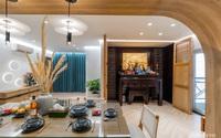 Căn hộ 180m² đẹp tinh tế và sang trọng với tông màu gỗ kết hợp sắc trắng hiện đại
