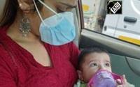 Cảnh sát Ấn Độ giúp cặp vợ chồng mắc Covid-19 chăm con 6 tháng tuổi