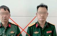 Xét hỏi 2 người đàn ông giả mạo trung tướng, đại úy quân đội
