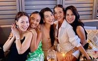 Hội mỹ nhân Việt tụ họp ở Singapore, Hoàng Oanh xuất hiện gợi cảm sau ồn ào với tình cũ