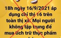 Chủ tịch phường đăng Facebook loan tin giãn cách xã hội khiến dân đổ xô đi tích trữ thực phẩm