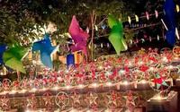 Trung thu đặc biệt tại nghĩa trang thai nhi: 300 chiếc đèn ông sao, hàng nghìn ánh nến rọi sáng bừng cả màn đêm