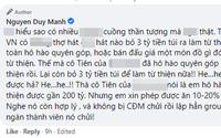 Duy Mạnh gây tranh cãi khi công khai mỉa mai cách làm từ thiện của Thủy Tiên