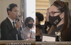 """Tang lễ ca sĩ Phi Nhung ở Mỹ: """"Người tình sân khấu"""" Mạnh Quỳnh nói về nỗi hàm oan của giọng ca bạc mệnh"""