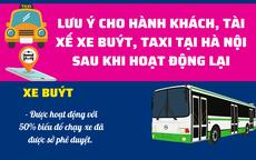 Lưu ý gì khi tham gia đi xe buýt, xe taxi ở Hà Nội sau khi mở lại ?