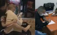 """Hà Nội: Bận nhắn tin, nam thanh niên """"nhờ"""" bạn gái dùng chân lái xe"""
