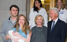 Gia đình cựu tổng thống Mỹ Bill Clinton đón cháu ngoại về nhà