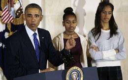 Hai con gái ông Oabama cảm thấy chán nản với màn xá tội gà tây