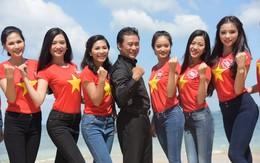38 thí sinh Hoa hậu tuyệt đẹp với quần jean, áo phông đỏ