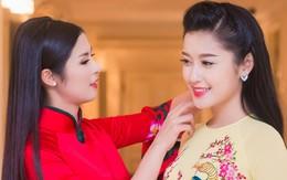 Hoa hậu Ngọc Hân đọ dáng bên Á hậu Huyền My