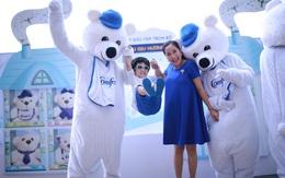 Hai mẹ con Ốc Thanh Vân bất ngờ vì đoàn gấu bí ẩn