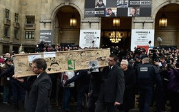 Đẫm nước mắt lễ tang nạn nhân vụ thảm sát đẫm máu ở Pháp