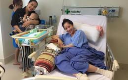 Ốc Thanh Vân bế con đến bệnh viện thăm mẹ con Khánh Thi