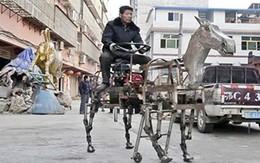 Lạ kỳ ngựa sắt gắn động cơ dạo phố