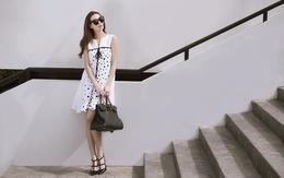 Khánh My gợi ý mặc đẹp cùng váy chấm bi