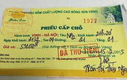 """Tàu """"Bông sen vàng"""" tuyến Vinh – Hà Nội: Khách hàng bị lừa?"""