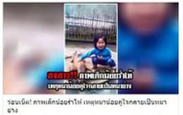 """Câu chuyện thật rơi nước mắt đằng sau bức ảnh """"cô bé khóc bên chú chó bị giết thịt"""""""