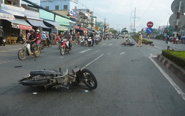 Vừa trộm xe gắn máy, trên đường tẩu thoát đã gây tai nạn giao thông