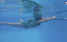 Elly Trần khoe con gái Cadie Mộc Trà bơi điệu nghệ