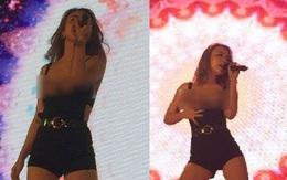 Linh Miu mặc váy lộ nguyên bầu ngực nhảy sexy trên sân khấu