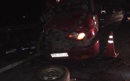 3 xe khách tông nhau kinh hoàng trên cao tốc,11 người bị thương