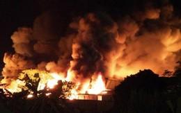 Cháy lớn ở nhà máy Công ty ô tô Trường Hải