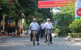"""Đạp xe phát động cuộc thi """"Biến đổi khí hậu với cuộc sống"""" tại Thái Nguyên"""