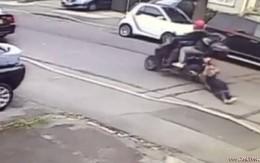 Quyết không để mất túi xách, người phụ nữ bị trộm kéo lê trên đường