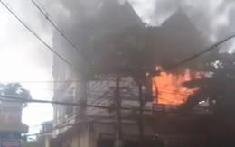 Cháy cửa hàng kinh doanh đệm giữa trung tâm TP Vinh