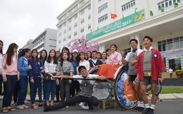 3 chàng trai Nhật Bản kéo xe vòng quanh thế giới đã tới Đà Nẵng
