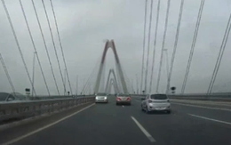 Đã xác định được 5 ô tô đi ngược chiều trên cầu Nhật Tân
