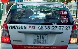Xem xét việc taxi dán decal phản đối Grab, Uber