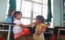 Trường tiểu học La Văn Cầu - xã Đắk R'Măng: Quặn lòng bữa cơm chỉ có rau
