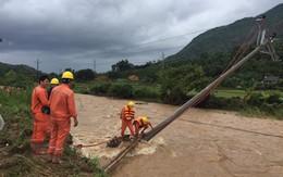 Ngành Điện lực khắc phục sự cố thiên tai sau bão số 3