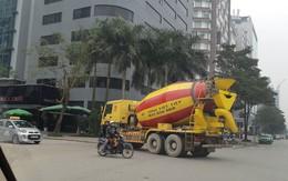 Hà Nội: Xe bồn chở bê tông gắn nhãn Việt Tiệp vẫn tung hoành trong giờ cấm
