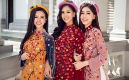 Bộ ảnh đón Tết sớm của Hoa hậu Tiểu Vy cùng 2 Á hậu xinh đẹp