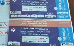 """Vé trận Việt Nam – Malaysia vòng loại World Cup 2022 """"nhảy múa"""" gấp 5 lần"""