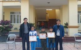 Hà Tĩnh: Khen thưởng 3 học sinh tiểu học nhặt được của rơi tìm người trả lại